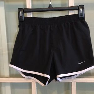 Women's, black, Nike running shorts , size XS